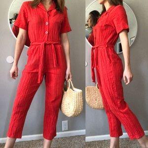 Vintage 90's red jumpsuit